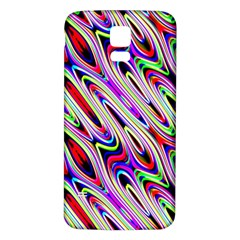 Multi Color Wave Abstract Pattern Samsung Galaxy S5 Back Case (White)