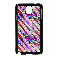 Multi Color Wave Abstract Pattern Samsung Galaxy Note 3 Neo Hardshell Case (black)