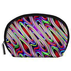 Multi Color Wave Abstract Pattern Accessory Pouches (Large)