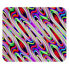 Multi Color Wave Abstract Pattern Double Sided Flano Blanket (Small)