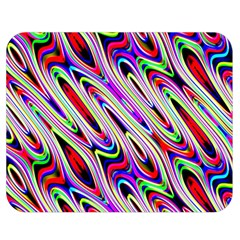 Multi Color Wave Abstract Pattern Double Sided Flano Blanket (Medium)