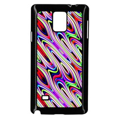 Multi Color Wave Abstract Pattern Samsung Galaxy Note 4 Case (Black)