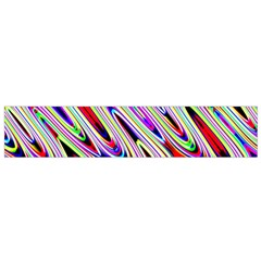 Multi Color Wave Abstract Pattern Flano Scarf (Small)