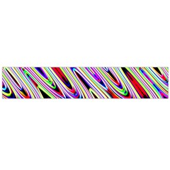 Multi Color Wave Abstract Pattern Flano Scarf (Large)