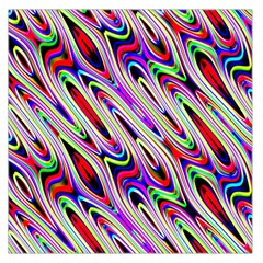Multi Color Wave Abstract Pattern Large Satin Scarf (Square)