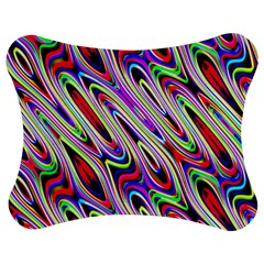 Multi Color Wave Abstract Pattern Jigsaw Puzzle Photo Stand (bow)
