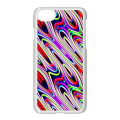 Multi Color Wave Abstract Pattern Apple Iphone 7 Seamless Case (white)