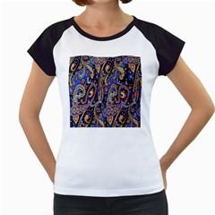 Pattern Color Design Texture Women s Cap Sleeve T
