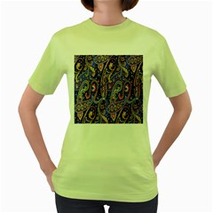 Pattern Color Design Texture Women s Green T Shirt