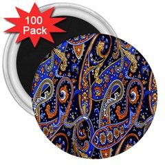 Pattern Color Design Texture 3  Magnets (100 pack)