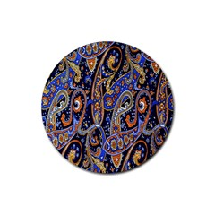 Pattern Color Design Texture Rubber Round Coaster (4 pack)