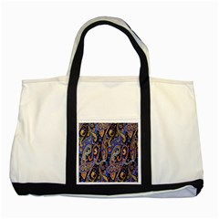 Pattern Color Design Texture Two Tone Tote Bag