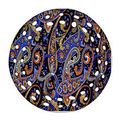 Pattern Color Design Texture Round Filigree Ornament (two Sides)