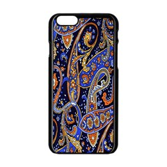 Pattern Color Design Texture Apple iPhone 6/6S Black Enamel Case