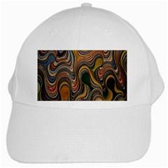 Swirl Colour Design Color Texture White Cap
