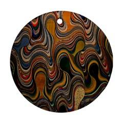 Swirl Colour Design Color Texture Ornament (Round)
