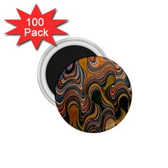 Swirl Colour Design Color Texture 1 75  Magnets (100 Pack)