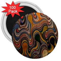 Swirl Colour Design Color Texture 3  Magnets (100 Pack)