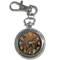 Swirl Colour Design Color Texture Key Chain Watches