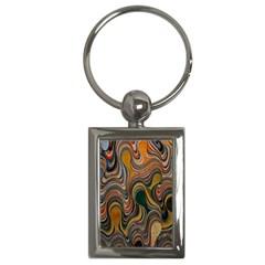 Swirl Colour Design Color Texture Key Chains (Rectangle)