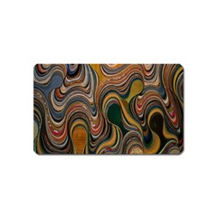 Swirl Colour Design Color Texture Magnet (name Card)
