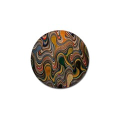 Swirl Colour Design Color Texture Golf Ball Marker (4 pack)