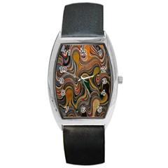 Swirl Colour Design Color Texture Barrel Style Metal Watch