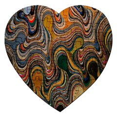 Swirl Colour Design Color Texture Jigsaw Puzzle (heart)