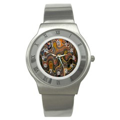 Swirl Colour Design Color Texture Stainless Steel Watch