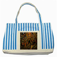 Swirl Colour Design Color Texture Striped Blue Tote Bag
