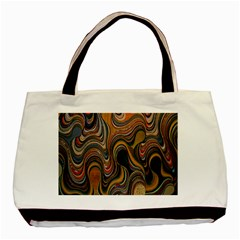 Swirl Colour Design Color Texture Basic Tote Bag (Two Sides)