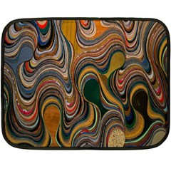 Swirl Colour Design Color Texture Double Sided Fleece Blanket (mini)