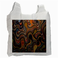 Swirl Colour Design Color Texture Recycle Bag (Two Side)
