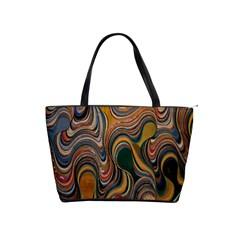 Swirl Colour Design Color Texture Shoulder Handbags