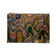 Swirl Colour Design Color Texture Cosmetic Bag (large)
