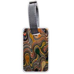 Swirl Colour Design Color Texture Luggage Tags (Two Sides)