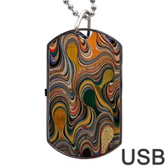 Swirl Colour Design Color Texture Dog Tag USB Flash (One Side)