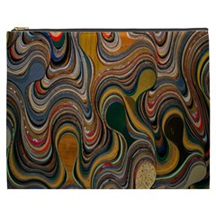 Swirl Colour Design Color Texture Cosmetic Bag (XXXL)