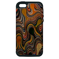 Swirl Colour Design Color Texture Apple iPhone 5 Hardshell Case (PC+Silicone)