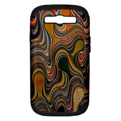 Swirl Colour Design Color Texture Samsung Galaxy S III Hardshell Case (PC+Silicone)