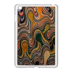 Swirl Colour Design Color Texture Apple Ipad Mini Case (white)