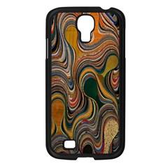 Swirl Colour Design Color Texture Samsung Galaxy S4 I9500/ I9505 Case (Black)