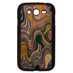 Swirl Colour Design Color Texture Samsung Galaxy Grand DUOS I9082 Case (Black)
