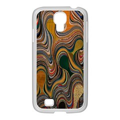 Swirl Colour Design Color Texture Samsung GALAXY S4 I9500/ I9505 Case (White)