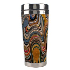 Swirl Colour Design Color Texture Stainless Steel Travel Tumblers