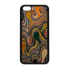 Swirl Colour Design Color Texture Apple iPhone 5C Seamless Case (Black)
