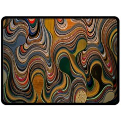 Swirl Colour Design Color Texture Double Sided Fleece Blanket (Large)