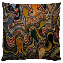 Swirl Colour Design Color Texture Large Flano Cushion Case (One Side)