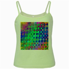 Background Texture Pattern Colorful Green Spaghetti Tank