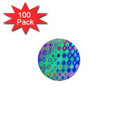 Background Texture Pattern Colorful 1  Mini Magnets (100 pack)